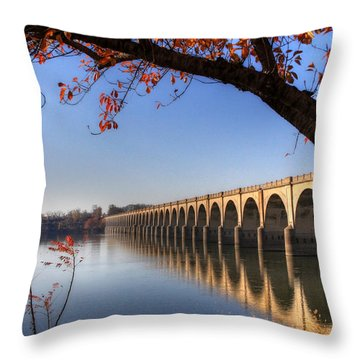 Shipoke In Autumn Throw Pillow by Lori Deiter