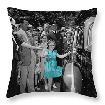 Shirley Temple Throw Pillow by Andrew Fare