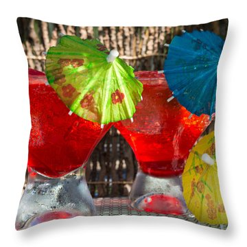 Shirley Temple Cocktail Throw Pillow by Iris Richardson