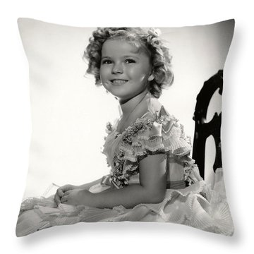 Shirley Temple Portrait Throw Pillow by Nomad Art
