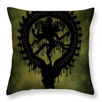 Shiva Throw Pillow by Cinema Photography