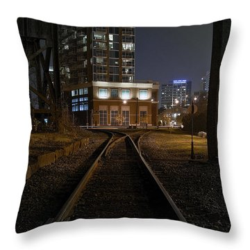 Shockoe Tracks Throw Pillow by Brian Archer