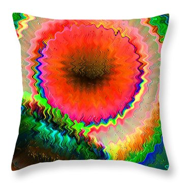 Shockwave Throw Pillow by Carl Hunter