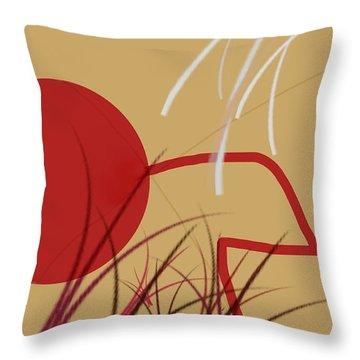Shooting Hoops Throw Pillow by Diana Angstadt