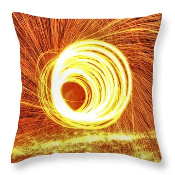 Shooting Sparks Throw Pillow by Dan Sproul
