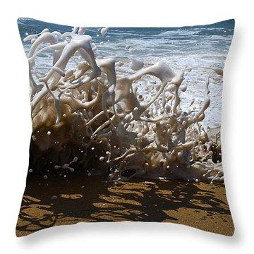Shorebreak - The Wedge Throw Pillow by Joe Schofield