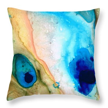 Shoreline - Abstract Art By Sharon Cummings Throw Pillow by Sharon Cummings