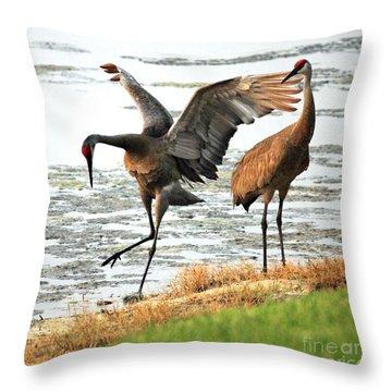 Showoff Throw Pillow by Carol Groenen