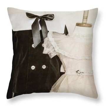 Siblings Throw Pillow by Margie Hurwich