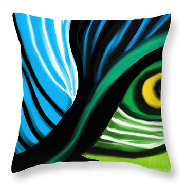 Side View Throw Pillow by Hilda Lechuga
