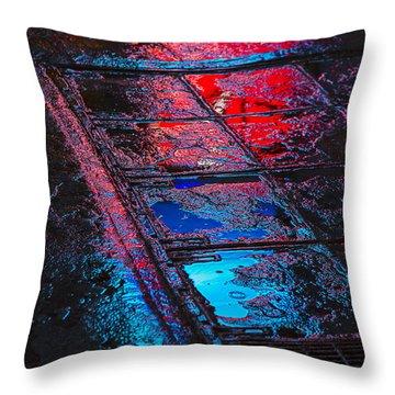 Sidewalk Reflections Throw Pillow by Garry Gay