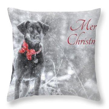 Sienna - Merry Christmas Throw Pillow by Lori Deiter