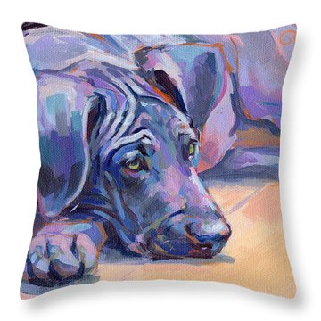 Sigh Throw Pillow by Kimberly Santini