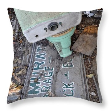 Signage Picking Throw Pillow by Gwyn Newcombe