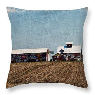 Signs Throw Pillow by Cassie Peters