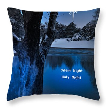 Silent Night Throw Pillow by Betty LaRue