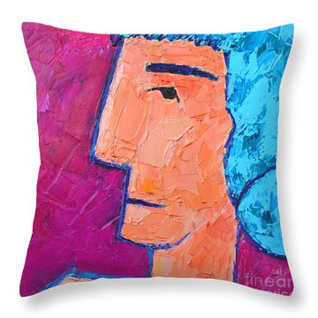 Silent Woman Throw Pillow by Ana Maria Edulescu