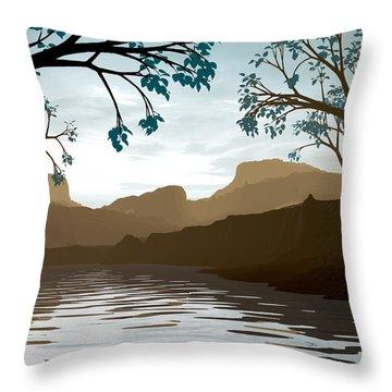 Silkscreen Throw Pillow by Cynthia Decker