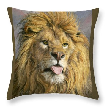 Silly Face Throw Pillow by Lucie Bilodeau