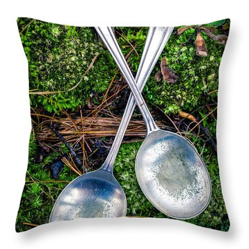 Silver Spoons  Throw Pillow by Edward Fielding