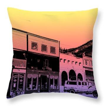 Silverton Colorado Throw Pillow by Janice Rae Pariza