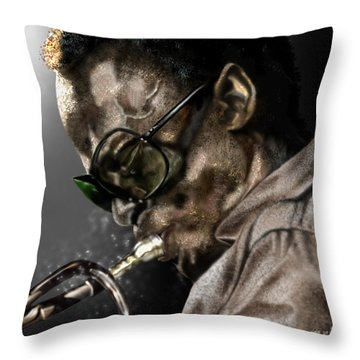 Simply Miles Throw Pillow by Reggie Duffie