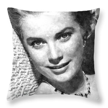 Simply Stunning Grace Kelly Throw Pillow by Florian Rodarte