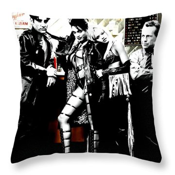 Sin City Starring Throw Pillow by Gabriel T Toro