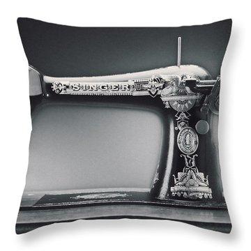Singer Machine Throw Pillow by Kelley King