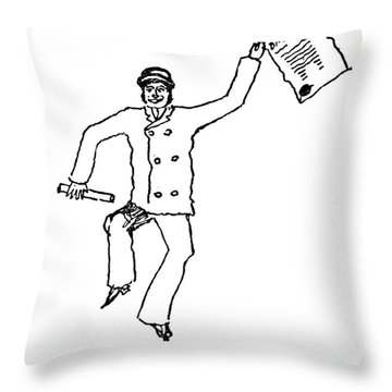 Sir Arthur Conan Doyle Throw Pillow by Granger
