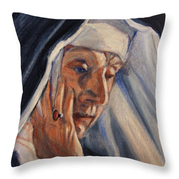 Sister Ann Throw Pillow by Xueling Zou