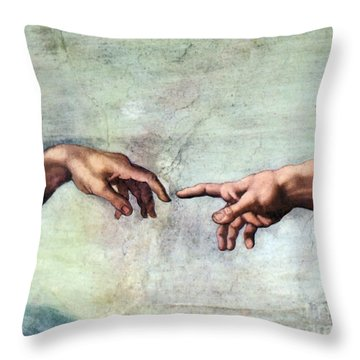 Sistine Chapel Throw Pillow by SPL and Photo Researchers