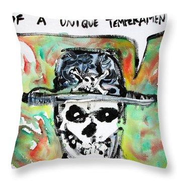 Skull Quoting Oscar Wilde.1 Throw Pillow by Fabrizio Cassetta