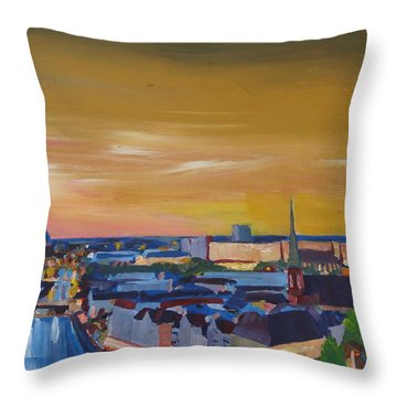 Skyline Of Berlin At Sunset Throw Pillow by M Bleichner