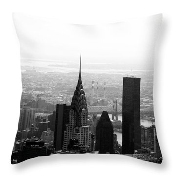 Skyscraper Throw Pillow by Linda Woods