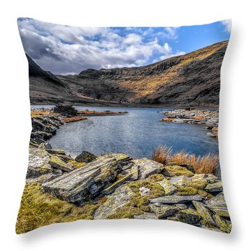 Slate Valley Throw Pillow by Adrian Evans