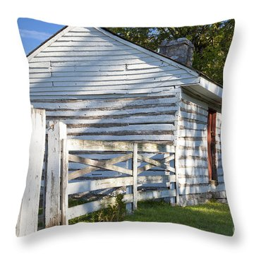Slave Huts On Southern Farm Throw Pillow by Brian Jannsen