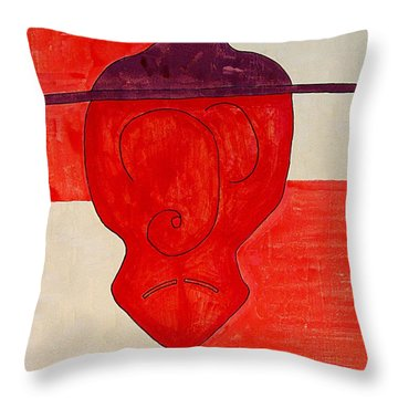 Sleepy Hidalgo Original Painting Throw Pillow by Sol Luckman