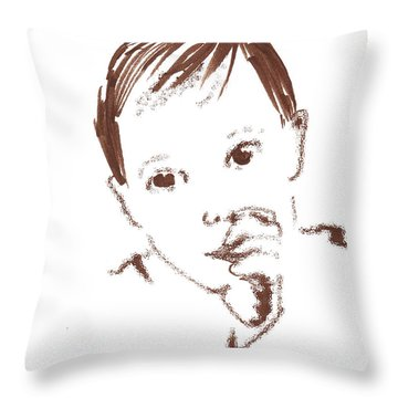 Sleepy Time Pal Throw Pillow by Seth Weaver