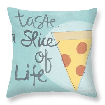 Slice Of Life Throw Pillow by Linda Woods