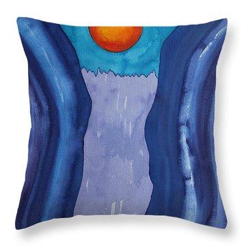 Slot Retablo Original Painting Throw Pillow by Sol Luckman