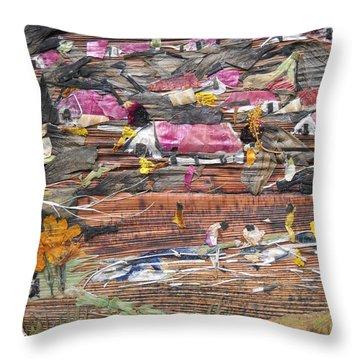 Slum On Hill  Throw Pillow by Basant Soni