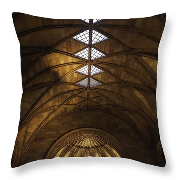 Smithsonian Castle Vaulted Ceiling Throw Pillow by Lynn Palmer