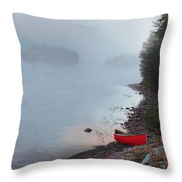 Smoke On The Water Throw Pillow by Kenneth M  Kirsch