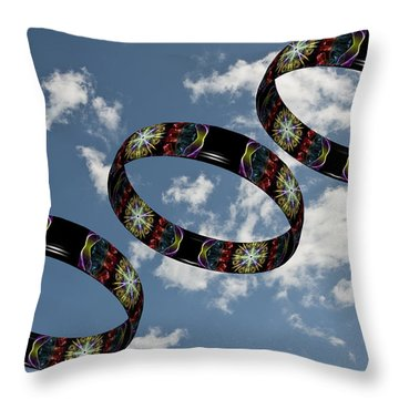 Smoke Rings In The Sky 1 Throw Pillow by Steve Purnell