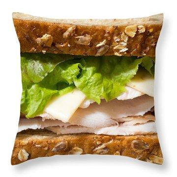 Smoked Turkey Sandwich Throw Pillow by Edward Fielding
