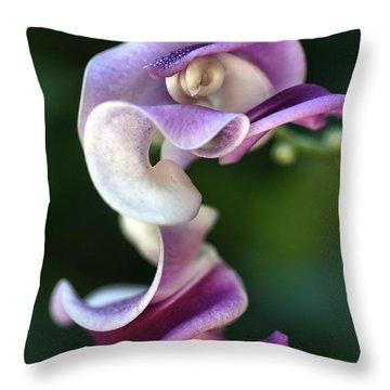 Snail Flower Throw Pillow by Joy Watson