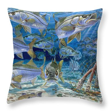 Snook Cruise In006 Throw Pillow by Carey Chen