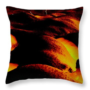 Snow On Fire Throw Pillow by Carol Lynch