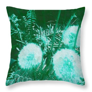 Snowballs In The Garden Throw Pillow by Pepita Selles